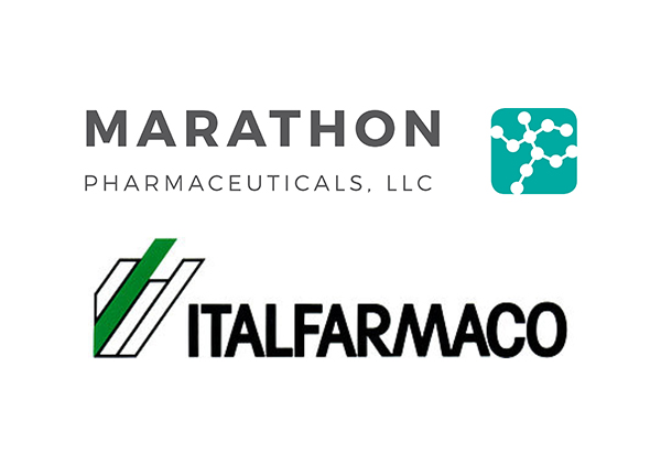Marathon Pharmaceuticals and Italfarmaco logos