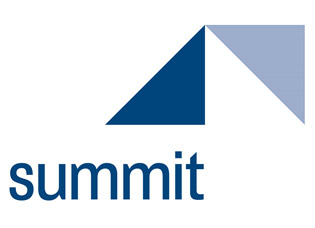 Summit blue and triangle Logo